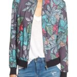 Missguided Floral Print Bomber Jacket
