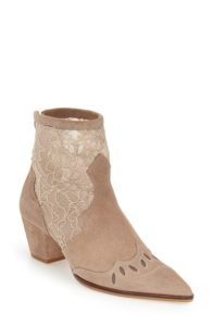 Topshop 'Alegra' Lace Pointy Toe Boot