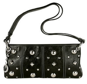 roccobarocco-piccadilly-black-studded-leather-baguette-bag