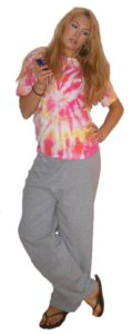 Sweatpants and tie-dye outfit