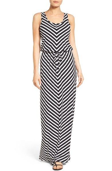 Caslon Drawstring Waist Maxi Dress