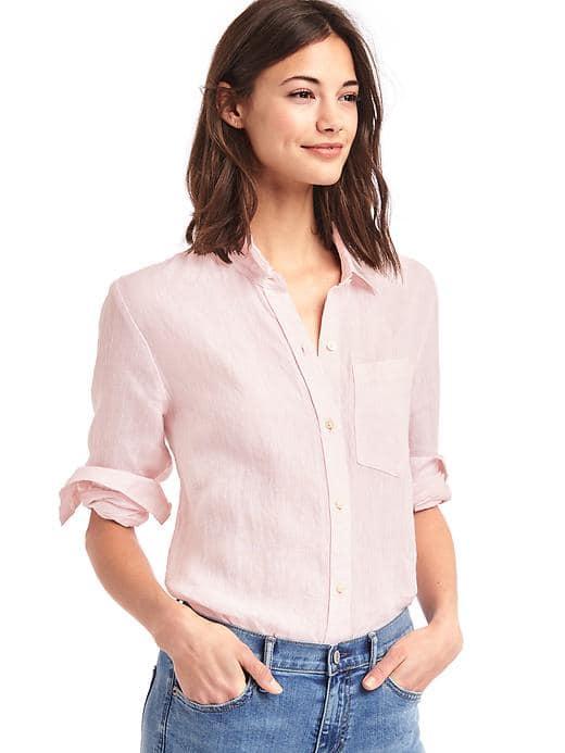 Gap Linen Oversize Boyfriend Shirt