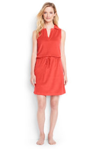 Lands' End Terry Sleevelss Polo Cover Up Dress $49
