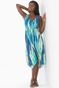 Soma Scarf Hem Midi Dress $79