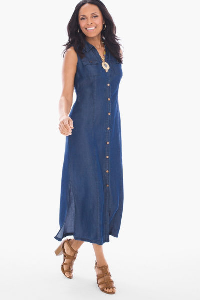 Long summer dress for women over 40