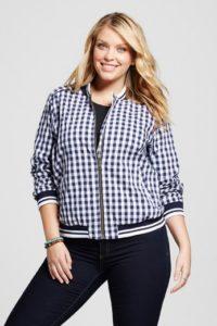 Target Merona Gingham Jacket (plus size)